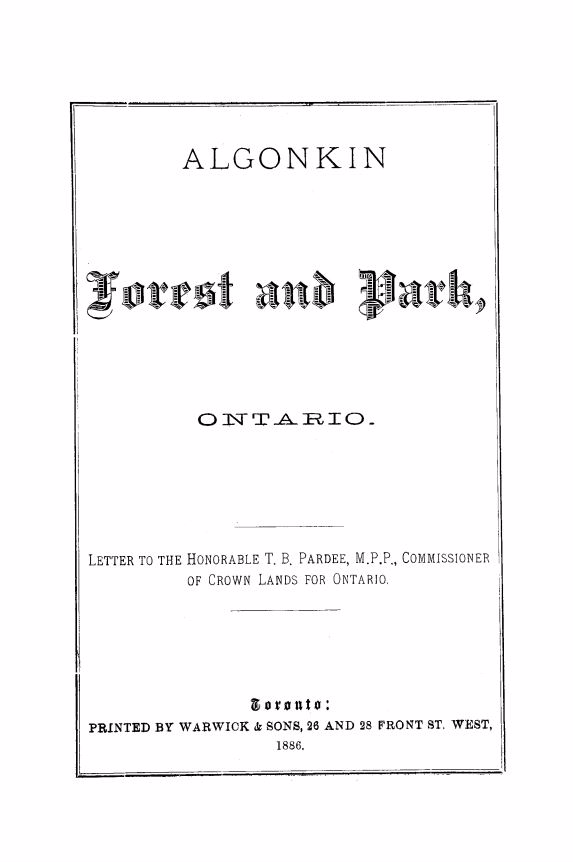 Algonkin Forest and Park